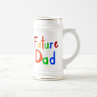 Kid Text Future Dad T-shirts and Gifts Beer Stein