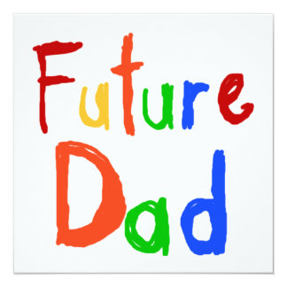 Kid Text Future Dad T-shirts and Gifts Invite