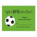 Kid Valentine's Day Card - Soccer Love Postcard