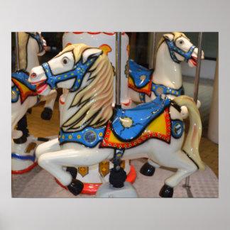 Kiddie Carousel Horses Poster