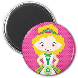 KIDLETS :: irish dancer blonde 6 Cm Round Magnet