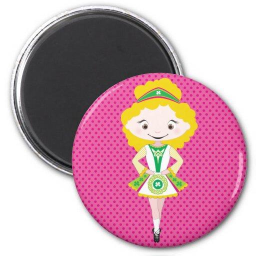 KIDLETS :: irish dancer blonde Refrigerator Magnet