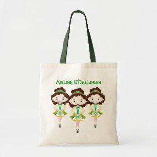 KIDLETS irish dancer dance school brown hair trio Budget Tote Bag