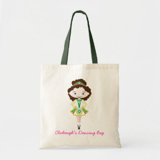 KIDLETS irish dancer dancing chestnut brown hair Budget Tote Bag