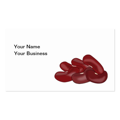 Kidney Beans Bean Lover Vegetarian Vegan Business Card