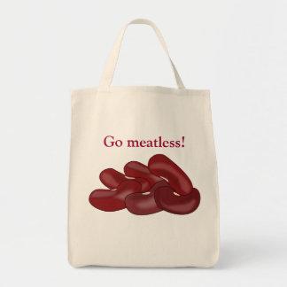 Kidney Beans Go Meatless Vegetarian Vegan Tote Bag