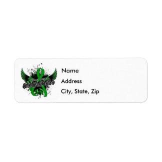 Kidney Cancer Awareness 16 (Green) Return Address Label