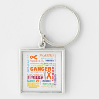 Kidney Cancer Awareness Collage Keychains