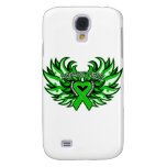 Kidney Cancer Awareness Heart Wings.png Galaxy S4 Cases