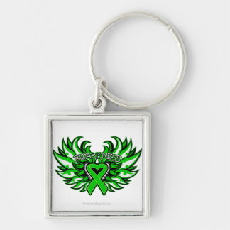 Kidney Cancer Awareness Heart Wings.png Key Chains