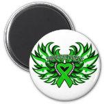 Kidney Cancer Awareness Heart Wings.png Fridge Magnet