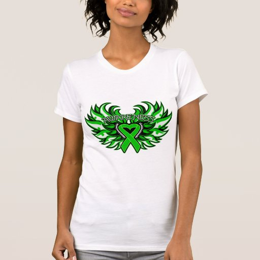 Kidney Cancer Awareness Heart Wings.png Shirts