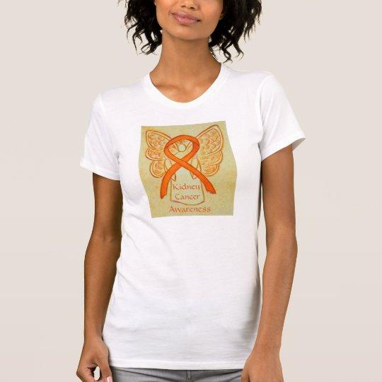 Kidney Cancer Awareness Ribbon Angel Custom Shirt