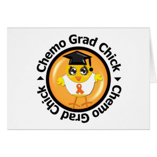 Kidney Cancer Chemo Grad Chick Cards