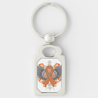 Kidney Cancer Cool Awareness Wings Key Chain