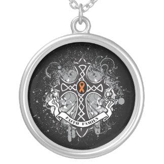 Kidney Cancer - Faith Family Prayer Cross 2 Necklace