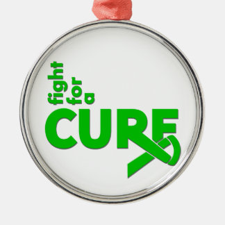 Kidney Cancer Fight For A Cure Silver-Colored Round Decoration