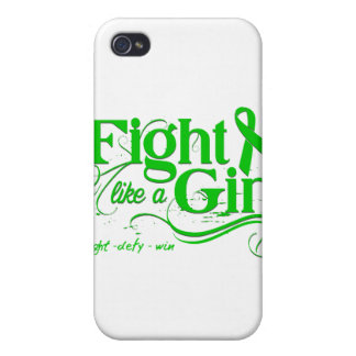 Kidney Cancer Fight Like A Girl Elegant Cover For iPhone 4