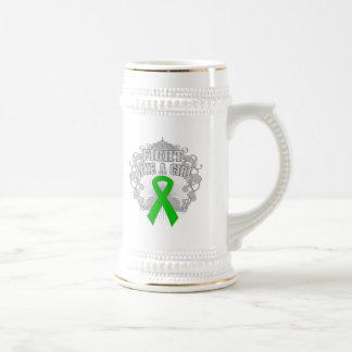 Kidney Cancer Fight Like A Girl Fleurish Beer Steins
