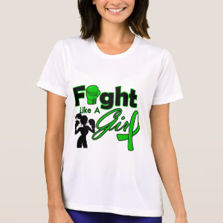 Kidney Cancer Fight Like A Girl Silhouette T-shirts