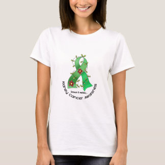 Kidney Cancer FLOWER RIBBON 1 (Green) T-Shirt