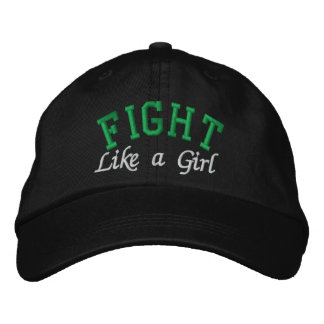Kidney Cancer Green - Fight Like a Girl Embroidered Hats