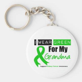 Kidney Cancer Green Ribbon For My Grandma Basic Round Button Key Ring