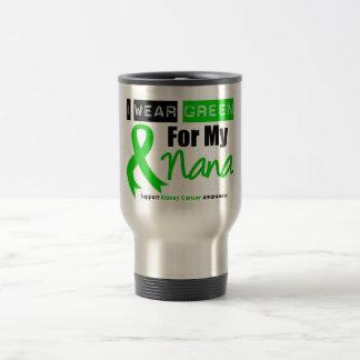 Kidney Cancer Green Ribbon For My Nana Stainless Steel Travel Mug