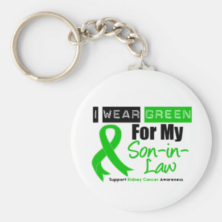 Kidney Cancer Green Ribbon For My Son-in-Law Basic Round Button Key Ring