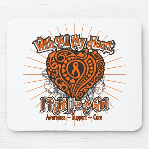 Kidney Cancer Heart I Fight Like A Girl Mouse Pad