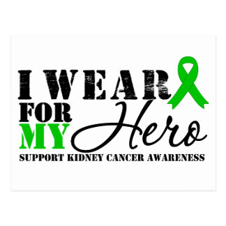 Kidney Cancer Hero Green Ribbon Post Cards