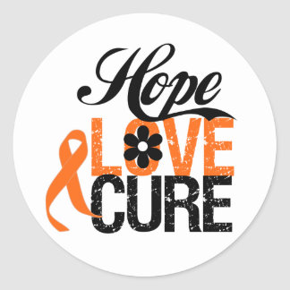 Kidney Cancer HOPE LOVE CURE Gifts Stickers