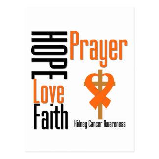 Kidney Cancer Hope Love Faith Prayer Cross Postcard