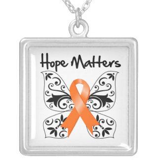 Kidney Cancer Hope Matters (Orange Ribbon) Personalized Necklace
