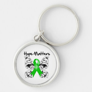 Kidney Cancer Hope Matters Silver-Colored Round Key Ring