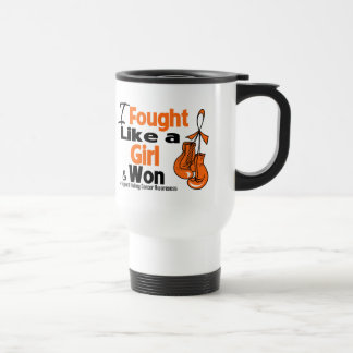 Kidney Cancer I Fought Like a Girl and Won Stainless Steel Travel Mug