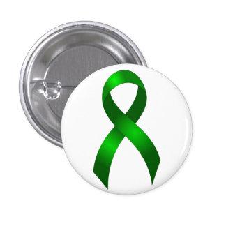 Kidney Cancer | Liver Cancer | Green Ribbon 3 Cm Round Badge