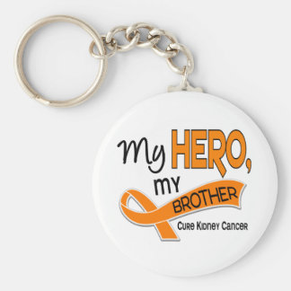 Kidney Cancer MY HERO MY BROTHER 42 Basic Round Button Key Ring