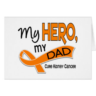 Kidney Cancer MY HERO MY DAD 42 Greeting Card