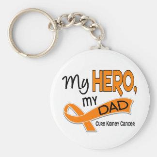Kidney Cancer MY HERO MY DAD 42 Basic Round Button Key Ring