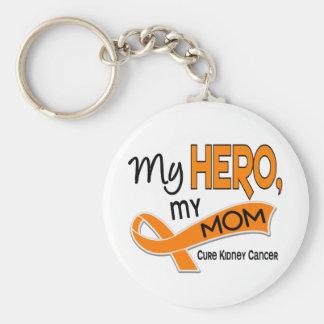 Kidney Cancer MY HERO MY MOM 42 Basic Round Button Key Ring