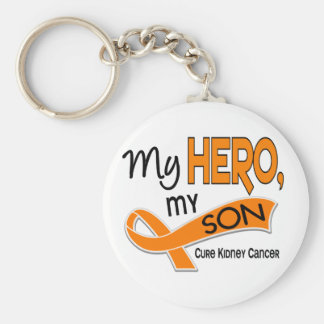 Kidney Cancer MY HERO MY SON 42 Basic Round Button Key Ring