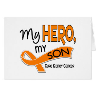 Kidney Cancer MY HERO MY SON 42 Greeting Card