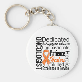 Kidney Cancer Oncologist Collage v1 Basic Round Button Key Ring