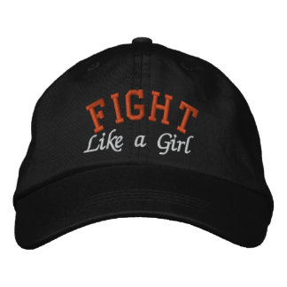 Kidney Cancer Orange - Fight Like a Girl Embroidered Baseball Cap