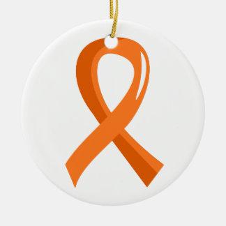 Kidney Cancer Orange Ribbon 3 Christmas Ornament