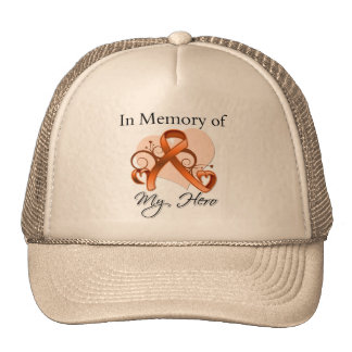 Kidney Cancer Remembrance - In Memory of My Hero Mesh Hat
