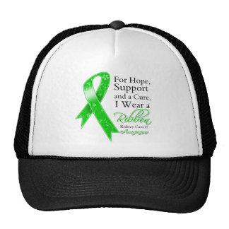 Kidney Cancer Support Hope Awareness v2 Trucker Hats