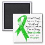 Kidney Cancer Support Strong Survivor Refrigerator Magnets
