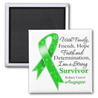 Kidney Cancer Support Strong Survivor Square Magnet